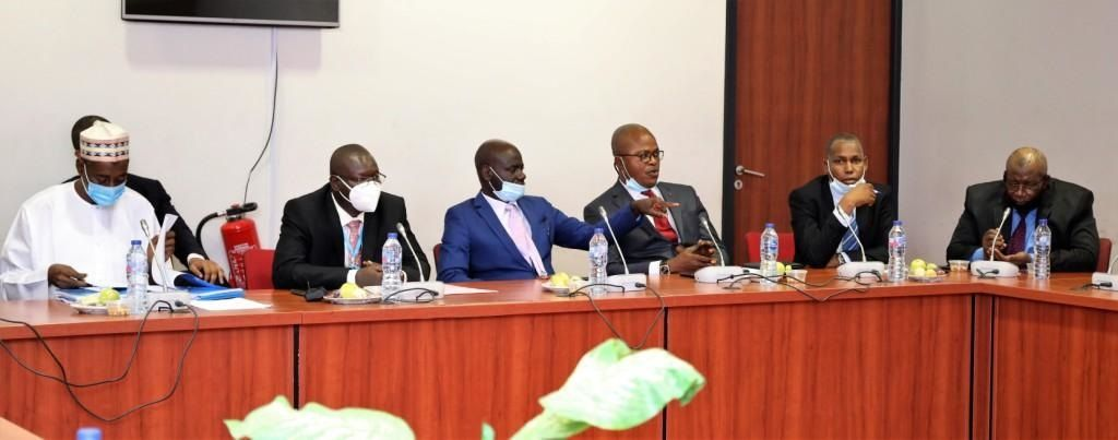 EFCC chairman and his officials at the senate