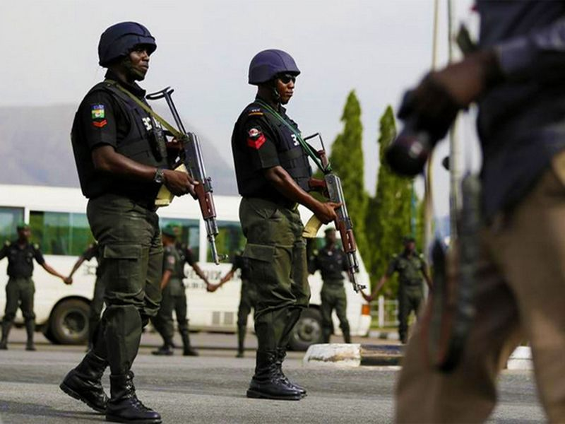 Photo of Nigerian Police Men (For illustrative purposes only)