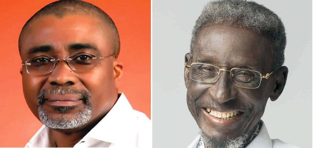Eyinnaya Abaribe (Left) and late actor Sadiq Daba (Right)