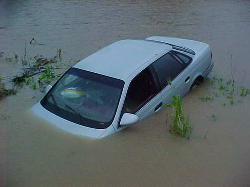 Sinking car (For Illustrative purposes only)