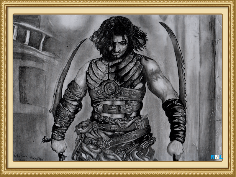THE PRINCE OF PERSIA  DRAWING BY CHINUA